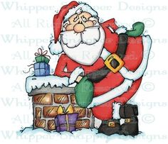 Santa Takes a Break - Christmas Images - Christmas - Rubber Stamps - Shop