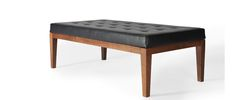 Oslo Ottoman - Gingko Furniture   FOR OTHER SIDE OF COFFEE TABLE (BY TV), WE WOULD NOT USE BLACK