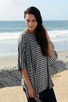 Oslo Nursing Cover By Dria (Breastfeeding Poncho with Organic Modal Fabric, Grey and Black Stripes) - Click image twice for more info - See a larger selection of breastfeeding covers  at  http://zbabyproducts.com/product-category/breastfeeding-covers/ - maternity,mom to be nursery,infants,new born, baby shower gift ideas, holidays,christmas