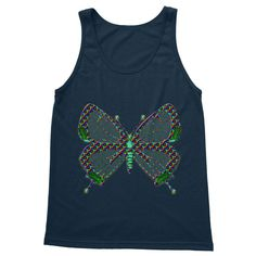 Sun's out, guns out! This printed tank top will keep you cool in the hot weather, and looking pretty fine too. Rainbow Butterfly, Tank Man, Guns, Weather, Tank Tops, Printed, Cool Stuff, Hot, Pretty
