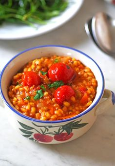 Tomato Pearl Barley Risotto |Euphoric Vegan
