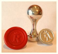 Regal Initial Wax Seal Stamp by LetterSeals on Etsy