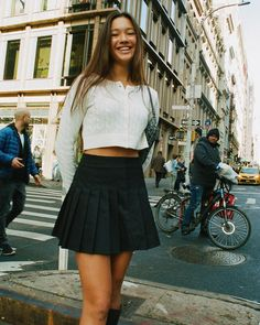 Casual School Outfits, Cute Casual Outfits, Cute Summer Outfits, Stylish Outfits, 90s Inspired Outfits, Ideal Girl, Lily Chee, Tennis Skirts, Girl Fashion
