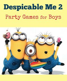 If you are planning to host a Despicable Me - Minion theme party for your son, then working out the best Despicable Me 2 party games for boys is a sheer necessity. There are many fun party games which can spark up the party ambiance and offer your kids one of the most enthralling parties ever