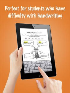 SnapType for Occupational Therapy ($0.00) an Occupational Therapy app that helps students who have difficulty writing. Students can take pictures of their worksheets in class and use the iPad keyboard to type in answers. Take a picture of your school worksheet and add text.