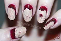 Zombie nails anyone? The Daily Nail Blog features Zoya Avery and Zoya Flowie in this melting skin nail look