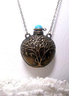 Tree Of Life Magic Potion Bottle Necklace by FashionCrashJewelry, $24.50
