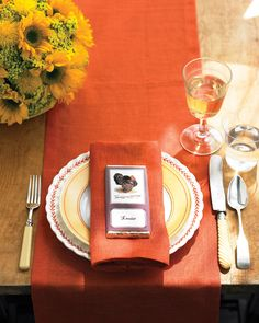 wrap around candy bar for place settings
