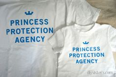 20 DIY Disney Shirts (Not Another Round-up!) Princess Protection Agency, for men and boys