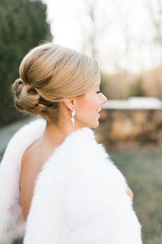 Classic + elegant bridal updo: http://www.stylemepretty.com/little-black-book-blog/2016/03/25/classic-elegant-virginia-winter-wedding/ | Photography: Virgil Bunao - http://virgilbunao.com/