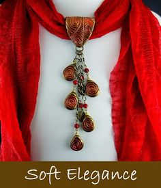 2 Good Claymates: Scarf Jewelry Collection - Clay scarf charms