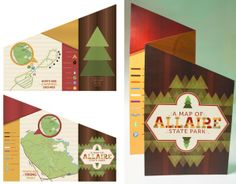 Allaire State Park Map by Lindsay Muir, via Behance