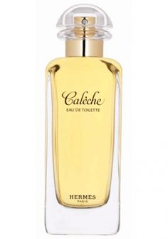 Caleche Hermes for women... Calèche: composed by Guy Robert in 1961, this very feminine combination of flower, wood and chypre, whose name evokes the House's emblematic carriage team, shines through the beauty of its primary ingredients, from the gaiety of its citrus hints to the modernity of its aldehyde notes, from its floral heart embroidered with ylang-ylang, rose and jasmine, to its woody chypre afternote, emphasized by the nobility of iris. I MUST TRY THIS!