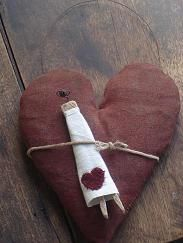 Heart with clothespin doll