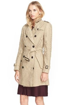 Burberry London 'Kensington' Lace Trench Coat available at #Nordstrom