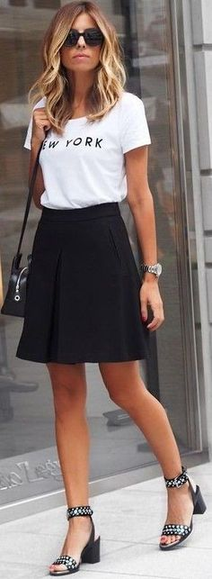 #fall #trending #outfits | Black + White