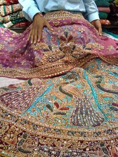A Collection of Peacock Style Saris Nirakara Delhi Peacock Lehenga Designer Bridal Lehenga, Bridal Lehenga Choli, Pakistani Bridal Dresses, Saris, Wedding Lenghas, Latest Bridal Dresses, Indian Lengha, Peacock Dress, Pink Peacock