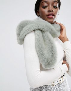 Pieces | Pieces Faux Fur Scarf