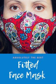 Easy Face Masks, Diy Face Mask, Maskcara Beauty, Diy Mask, Fashion Face Mask, Sewing Patterns Free, Free Sewing, Mask Design, Mask Making