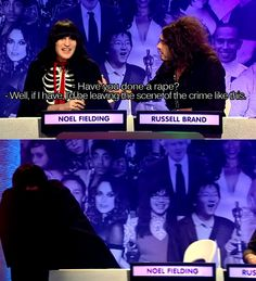 Post with 14328 votes and 280902 views. Tagged with Funny; Shared by ISmellManFlesh. Russell Brand and Noel Fielding - Big Fat Quiz of the Year Russell Brand, Noel Fielding, British Humor, British Comedy, Comedy Tv, Comedy Show, Mean People, Funny People, Haha Funny