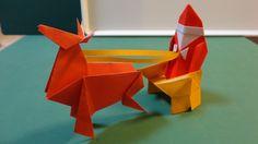 """クリスマス「サンタのそり」折り紙Christmas """"Santa Claus curves"""" origami"""