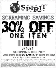 image relating to Printable Spirit Halloween Store Coupon named 36 Suitable Halloween: Spirit Retail store pics within 2017 Pleased