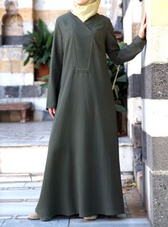 SHUKR | Abaya with Pleated Neckline UK: http://www.shukr.co.uk/Abaya-with-Pleated-Neckline-P8320C51.aspx