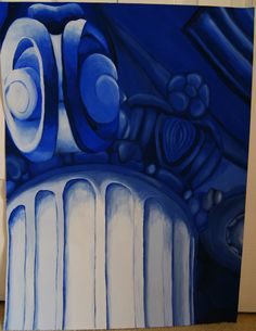 This is a tempera painting of Greek Ionic architecture done in a monochromatic color scheme. No real reason behind it except it was an assignment for my art class :)
