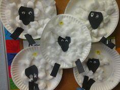 Preschool craft sheep for farm week