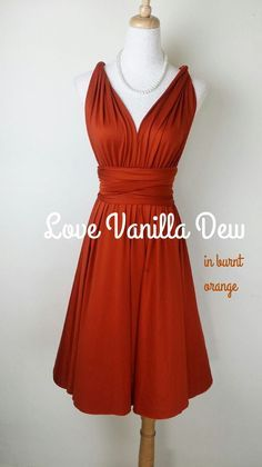 Plus Size Bridesmaid Dresses Burnt Orange Short