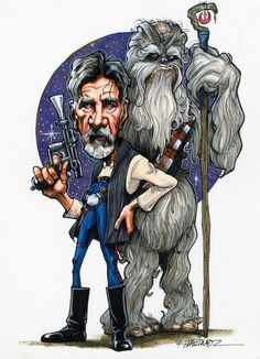 Retire of the Jedi, Han and Chewy by Randy Martinez Comic Art