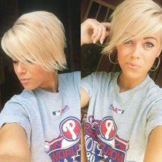 Funky short pixie haircut with long bangs ideas 34 #Pixiecutbangs