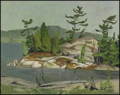 """""""Summer Morning - North Channel,"""" A. Casson, oil on board, 12 x private collection. Group Of Seven Artists, Group Of Seven Paintings, Canadian Painters, Canadian Artists, Painting Tips, Artist Painting, Tom Thomson, Emily Carr, Art Impressions"""