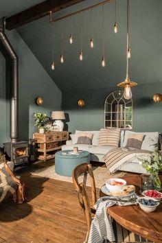 Living Room Green, Living Room Paint, Interior Design Living Room, Living Room Designs, Living Room Decor, Living Rooms, Bedroom Green, Color Interior, Interior Ideas