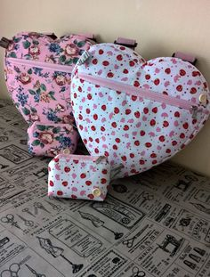 heart backpacks and purses by grannyhodgesewing on Etsy