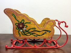 Decorative Christmas Sleigh  Vintage Christmas by TheLastFlamingo