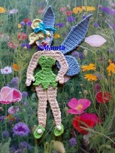 Tinkerbell Fairy Crochet Applique