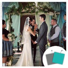 Color Scheme- Turquoise Blue & Grey  ZETA WEDDING