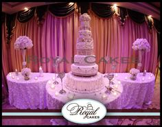 Six-Tier Wedding Cakes | Exquisite six tier wedding cake for the traditional bride and groom.