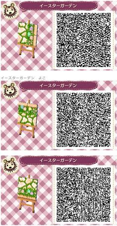 Animal Crossing: New Leaf QR Code Paths Pattern, Credit Animal Crossing: New Leaf QR Code Paths Pattern, Credit Animal Crossing 3ds, Animal Crossing Qr Codes Clothes, Acnl Qr Code Sol, Acnl Paths, Theme Nature, Motif Acnl, Ac New Leaf, Motifs Animal, Happy Home Designer