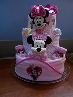 Minnie Mouse Diaper Cake  just4udiapercakes@yahoo.com