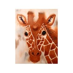 Giraffe Painting  Giclee Pint of my Watercolor Painting by LaBerge, $21.00