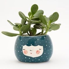 Ceramic Planter in Black Bird color - Marinski Heartmades Ceramic Planters, Ceramic Bowls, Planter Pots, Black Planters, Pot A Crayon, Ceramic Design, Decoration, Safe Food, All The Colors