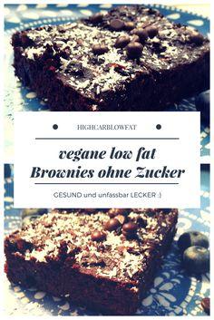 Highheels & Laufschuhe: Low Fat Brownies vegan ohne Zucker und fantastisch lecker