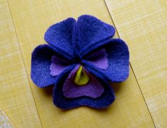 Felt Pansy Boutonnieres by littlepinkpoppy on Etsy, $7.50