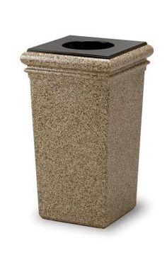 decorative outdoor garbage cans. 30 Gallon StoneTec Indoor Outdoor Concrete Fiberglass Decorative Trash Can 65 Suncast Commercial Wheeled