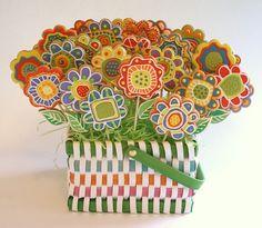 @Jasmijn L misschien iets voor je party? bloemenkoekjes op een stokje? x mama en jolijn