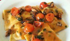 Ravioli di pesce con sautè di cozze