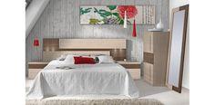 Cabecero cama moderno con 2 mesitas a juego