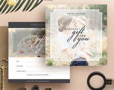 Photography Gift Certificate Template, Gift Card Design, Photo Marketing Template for Photographers,